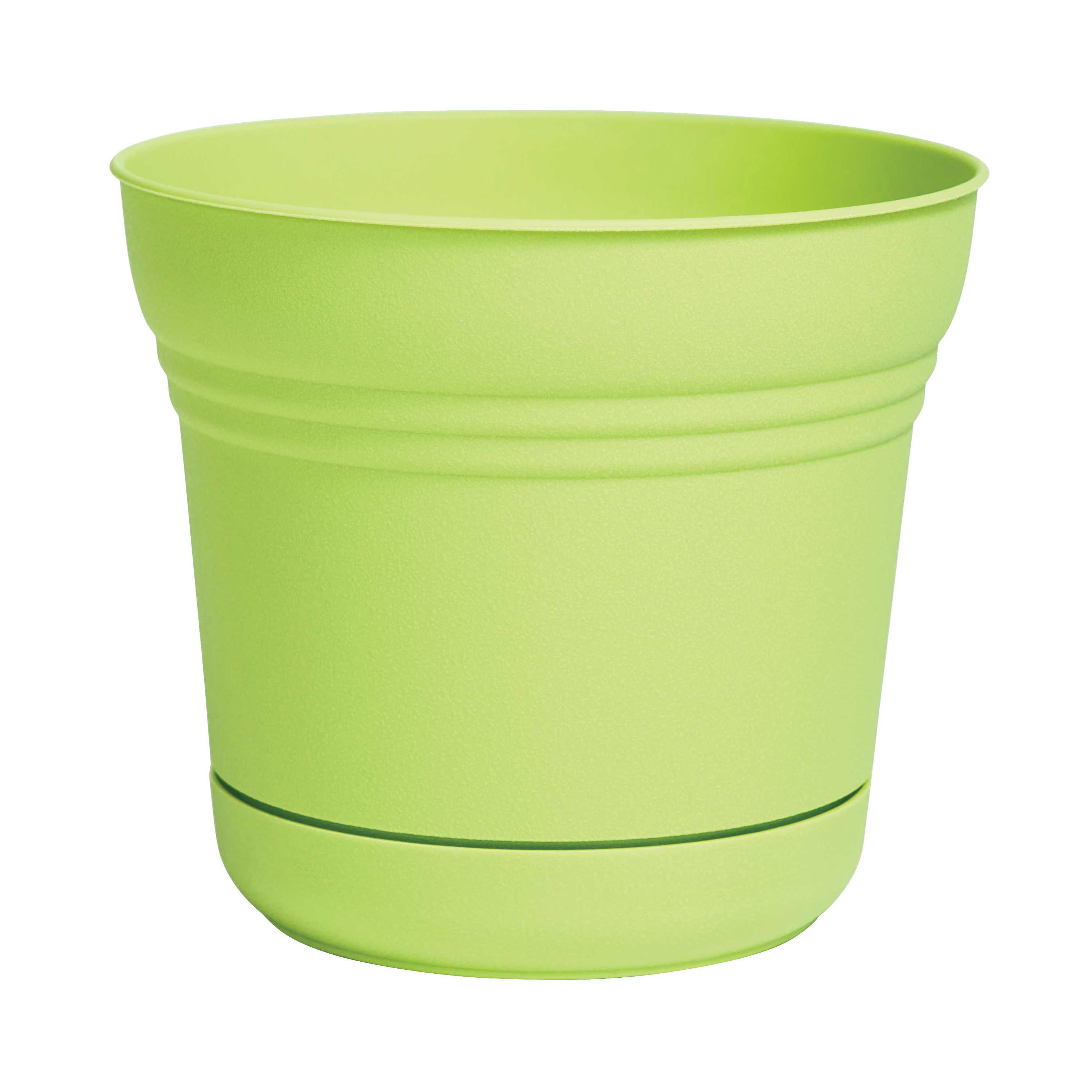 Picture of Bloem SP0725 Saturn Planter, 7.3 in W, Bell, Plastic, Honey Dew, Matte