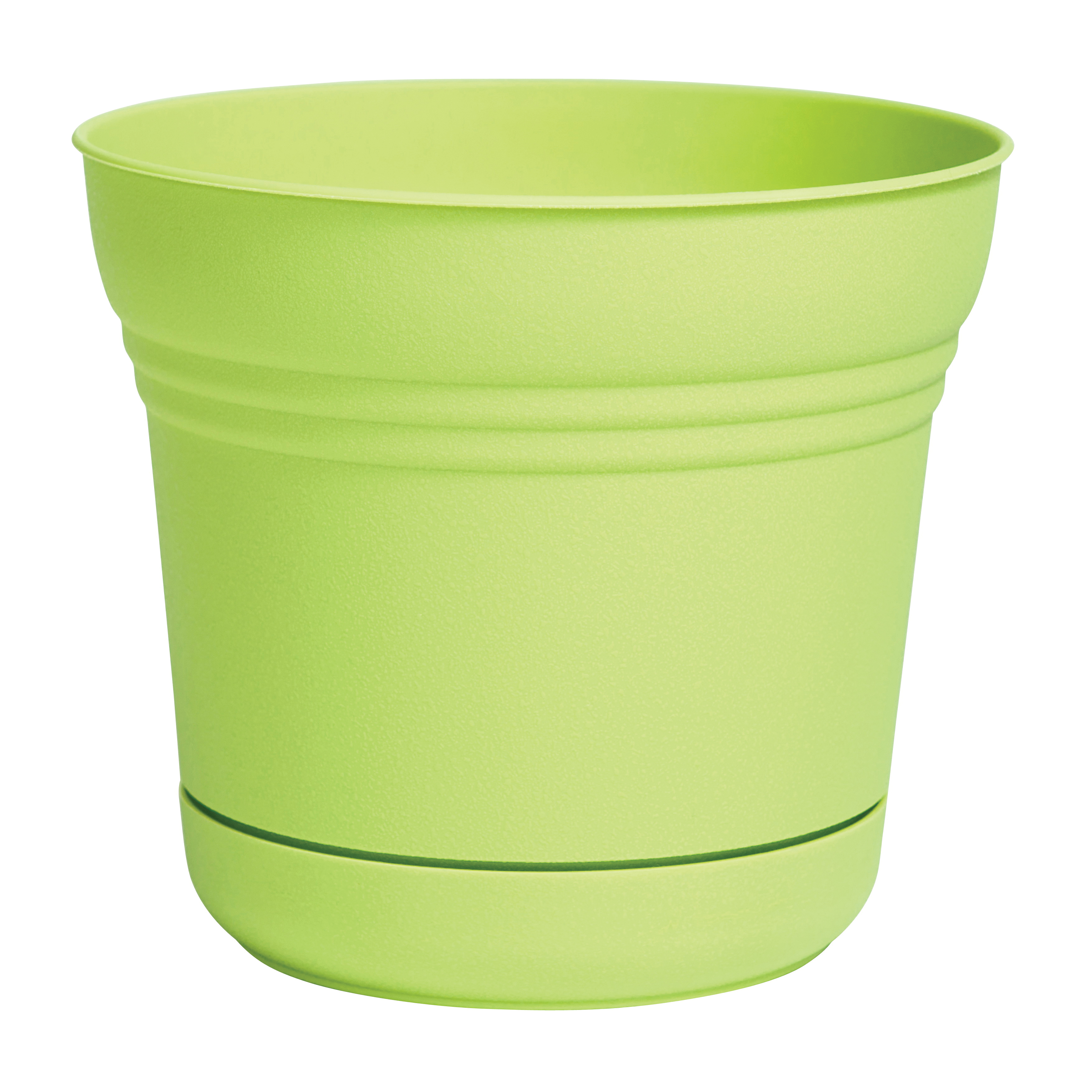 Picture of Bloem SP1025 Saturn Planter, 9.8 in W, Bell, Plastic, Honey Dew, Matte