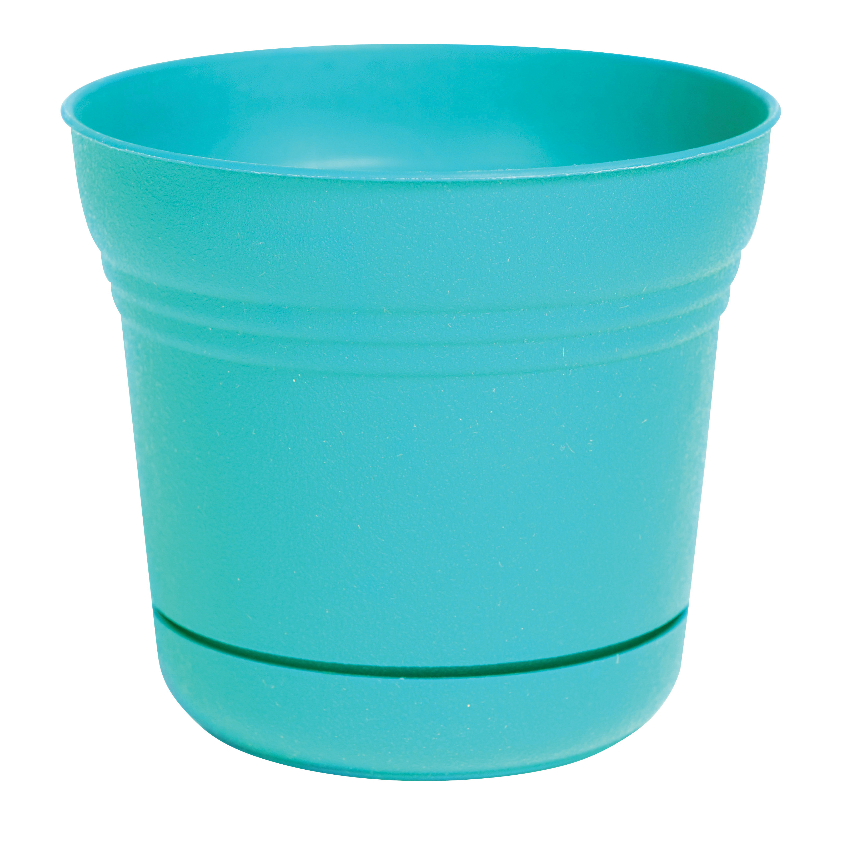 Picture of Bloem SP1027 Saturn Planter, 10 in W, Bell, Plastic, Teal, Matte