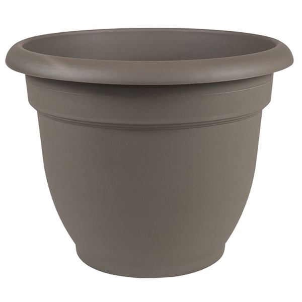 Picture of Bloem Ariana AP0860 Self-Watering Planter, 8 in Dia, 8-3/4 in W, Round, Plastic, Peppercorn