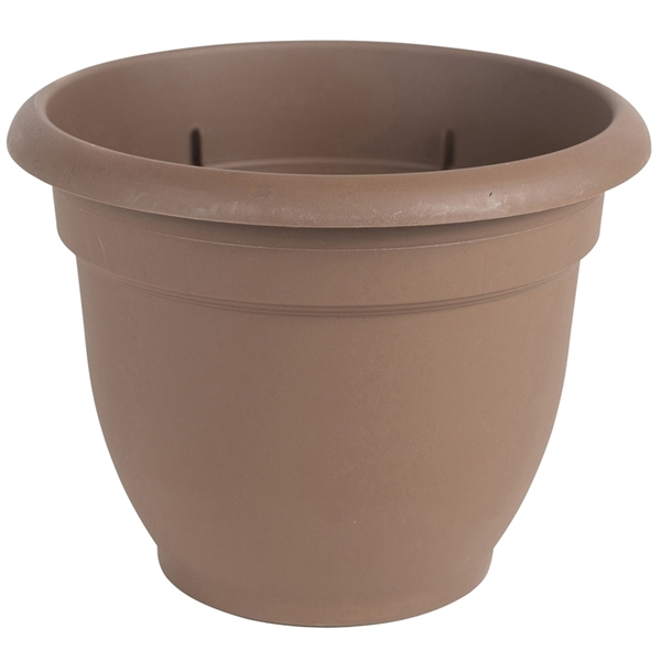 Picture of Bloem 20-56310CH Self-Watering Planter, 10 in Dia, 11 in W, Round, Plastic, Chocolate