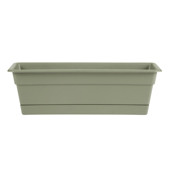 Picture of Bloem Dura Cotta DCBT18-42 Window Box Planter, 18 in W, Rectangular, Plastic, Living Green