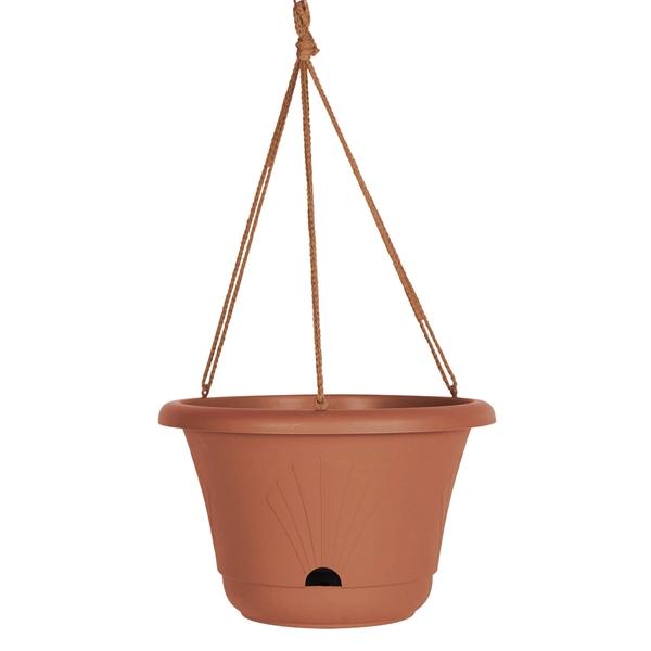 Picture of Bloem Lucca LHB1346 Hanging Basket, Round, 2 gal Capacity, Plastic, Terra Cotta
