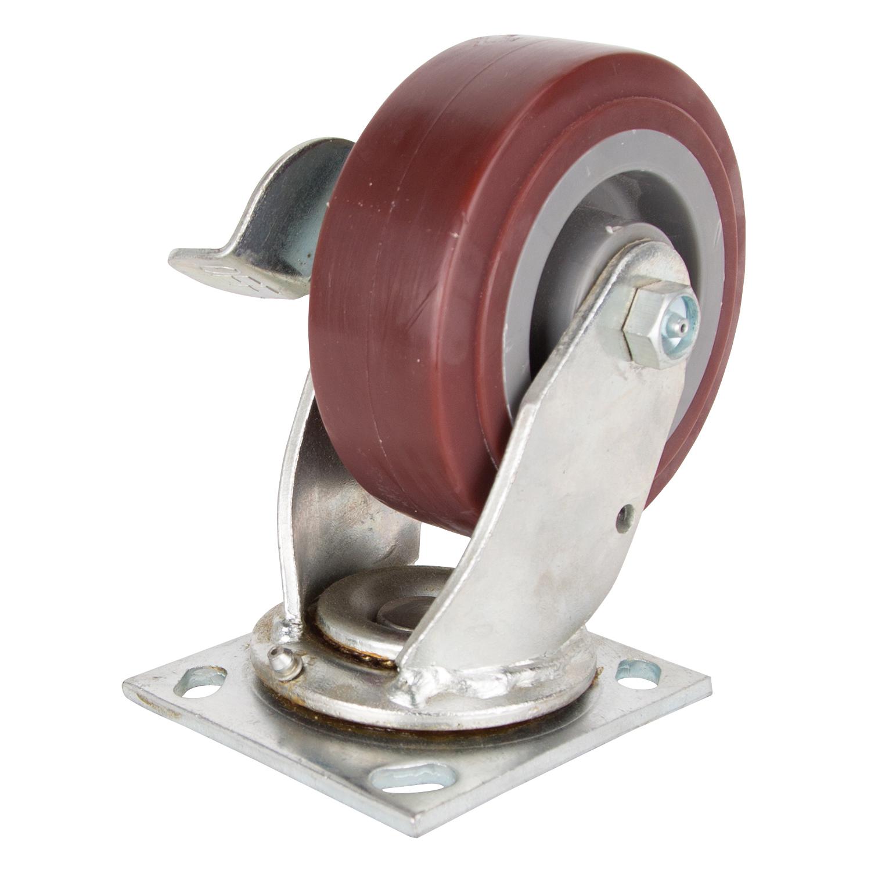 Picture of ProSource JC-P04 Swivel Caster, 5 in Dia Wheel, 2 in W Wheel, Polyurethane Wheel, 450 lb