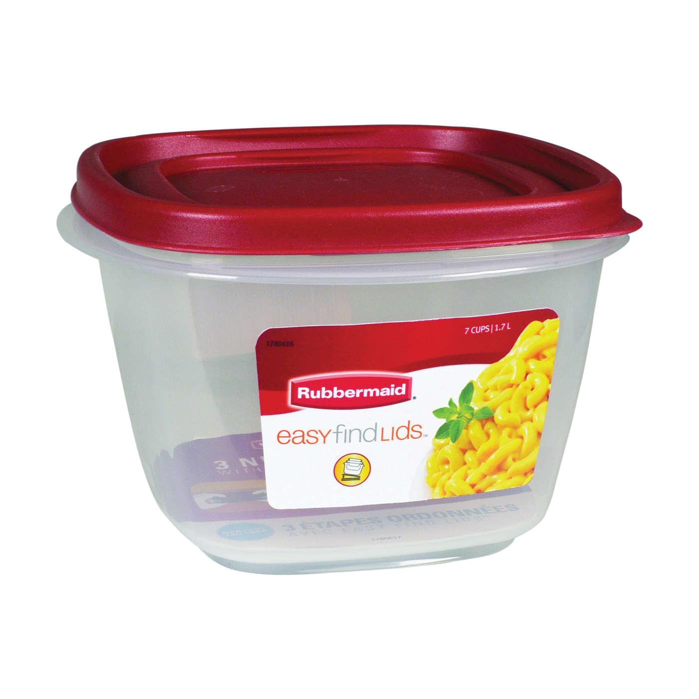 Picture of Rubbermaid 1777088 Food Storage Container, 7 Cups Capacity, Plastic, Clear