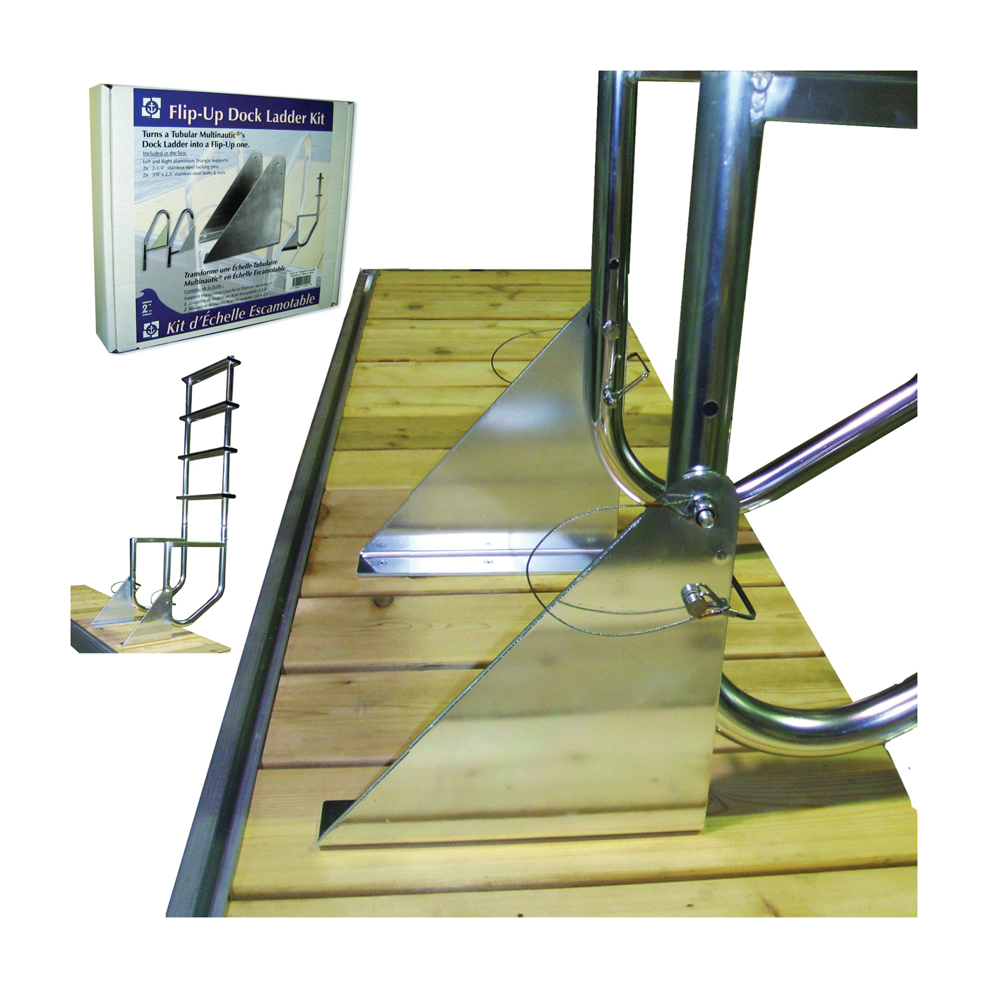 Picture of Multinautic 15529 Ladder Kit, Polyethylene