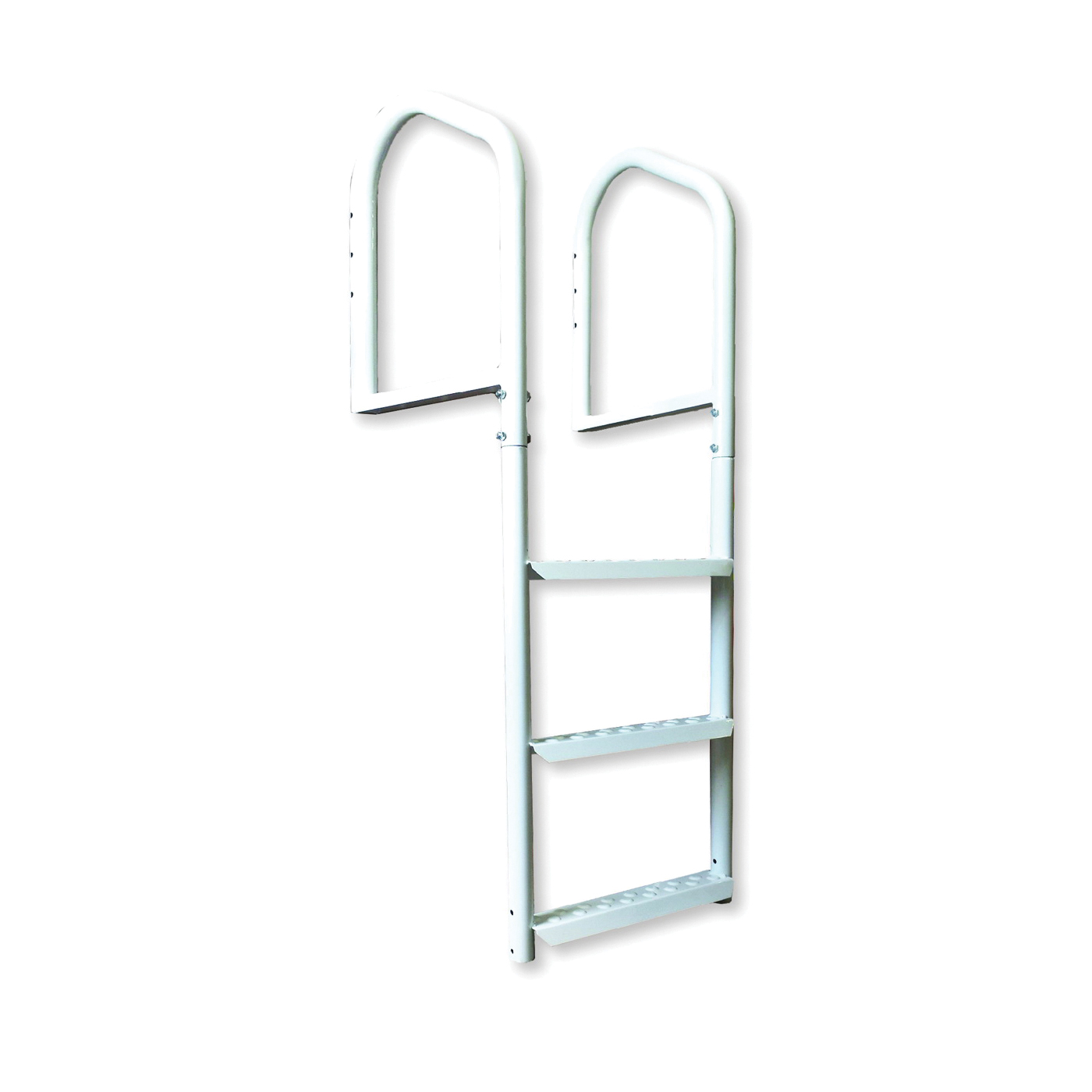 Picture of Multinautic 15503 Dock Ladder, 48 in H, 400 lb, 3-Step, Steel, Dura-Coated