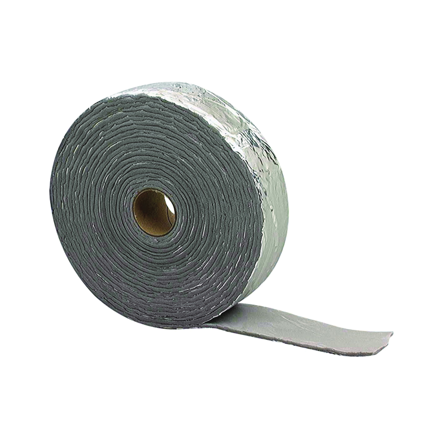 Picture of M-D 02394 Pipe Insulation Wrap, 30 ft L, 1/8 in Thick, PVC, Black/Silver