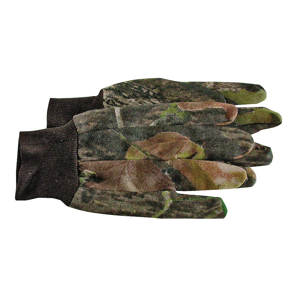 Picture of BOSS 4200MOL Protective Gloves, L, Straight Thumb, Knit Wrist Cuff, Cotton/Polyester, Camouflage/Mossy Oak