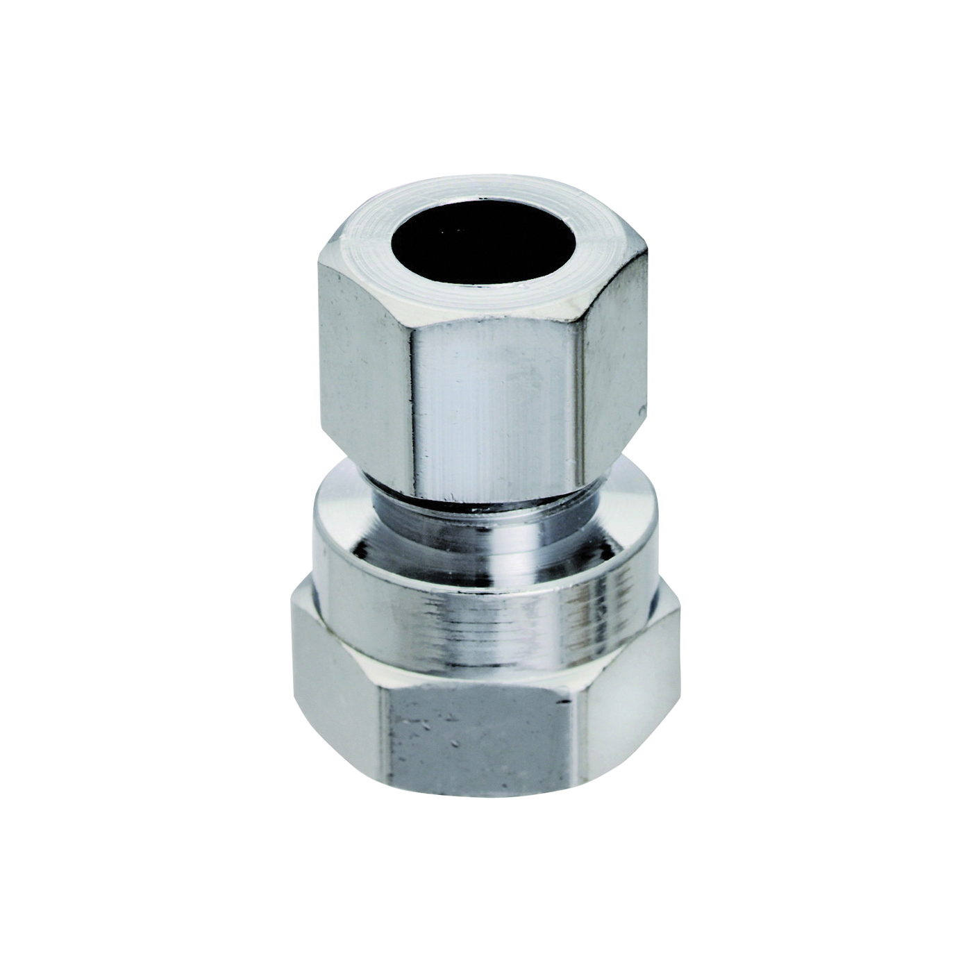 Picture of Plumb Pak PP20073LF Straight Adapter, 1/2 x 3/8 in, FIP x Compression, Chrome