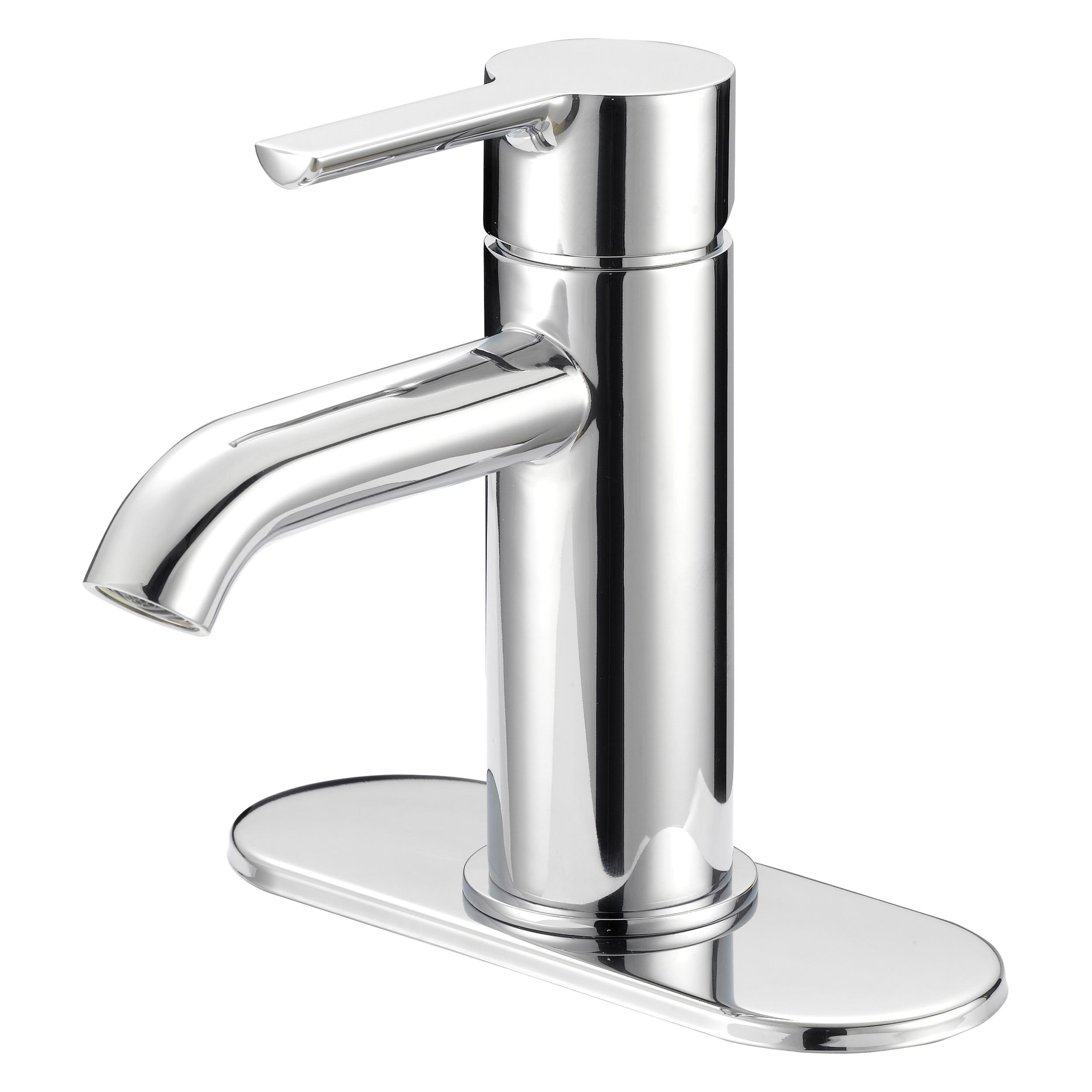 Picture of Boston Harbor FS6A0128CP Bathroom Faucet, 1-Faucet Handle, 1, 3-Faucet Hole, Chrome, Lever Handle