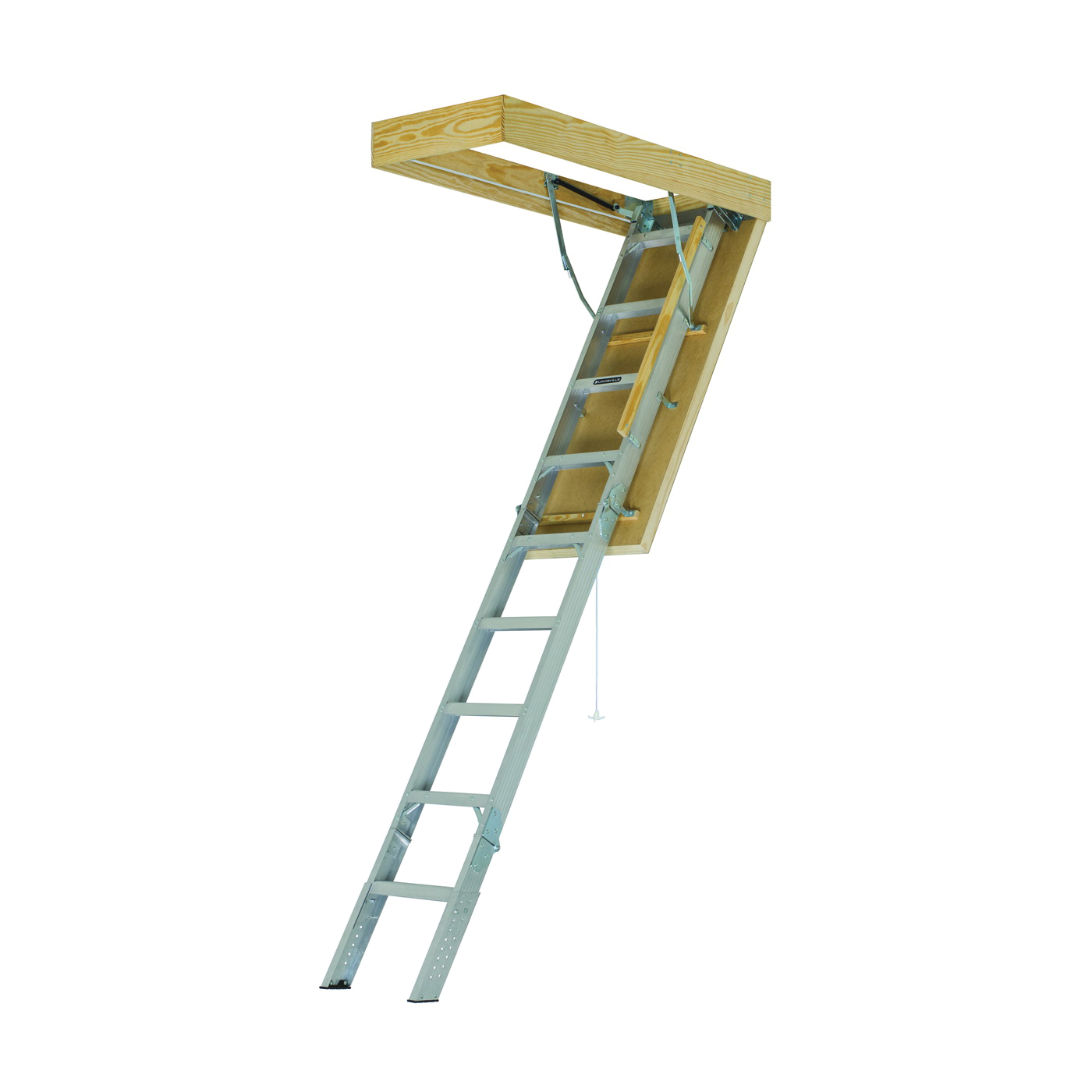 Picture of Louisville Energy Efficient Series AEE2510 Attic Ladder, 25-1/2 x 54 in Ceiling Opening, 11-Step, 375 lb, Aluminum