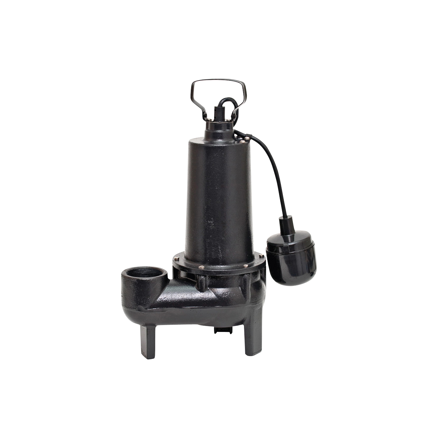 Picture of SUPERIOR PUMP 93501 Sewage Pump, 1-Phase, 7.6 A, 120 V, 0.5 hp, 2 in Outlet, 25 ft Max Head, 80 gpm, Iron
