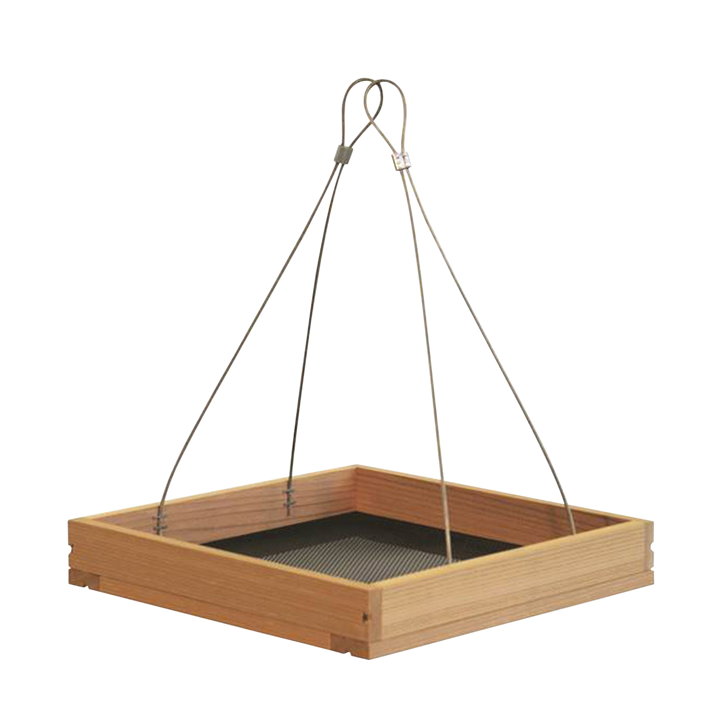 Picture of Perky-Pet 50178 Hanging Tray Bird Feeder, 1.6 lb, Metal/Pine, 9-1/4 in H