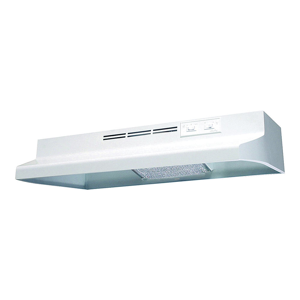 Picture of Air King Advantage AD AD1243 Range Hood, 180 cfm, 2 Fan, 24 in W, 12 in D, Cold Rolled Steel, White