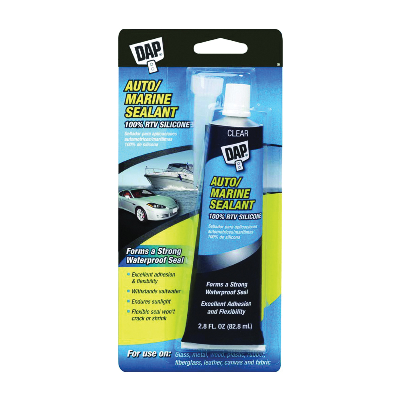 Picture of DAP 7079800756 Auto/Marine Sealant, Clear, 2.8 oz Package, Tube