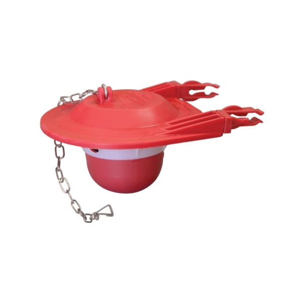 Picture of Korky 3060BP Toilet Flapper, Specifications: 3 in, Rubber, Red, For: Large 3 in Flush Valves and Toilets