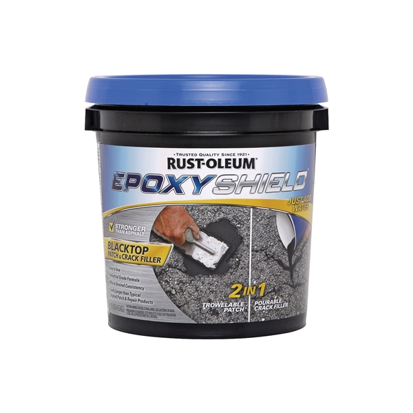 Picture of RUST-OLEUM 250700 Patch and Crack Filler, Solid, Black, 10 lb Package
