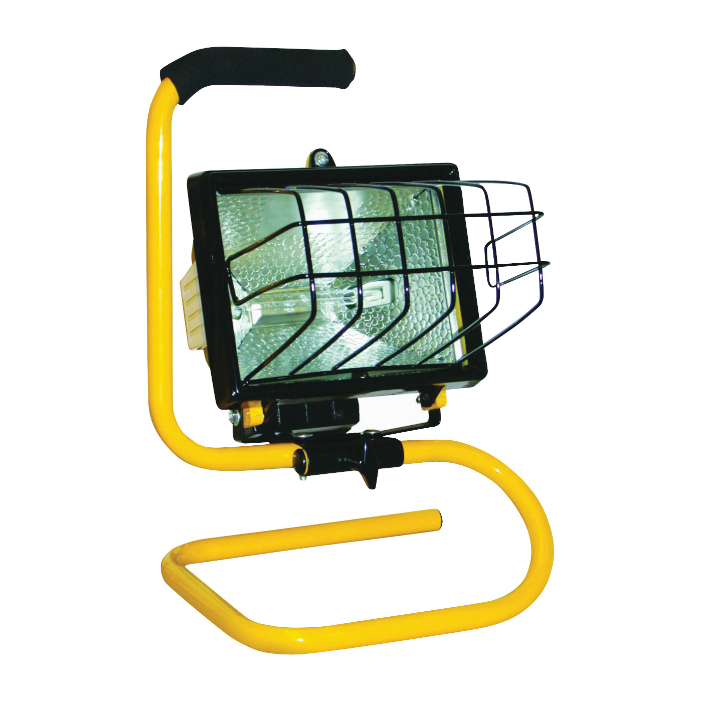 Picture of PowerZone ORHL500W03 Work Light, 120 V, 500 W, Halogen Lamp, Yellow