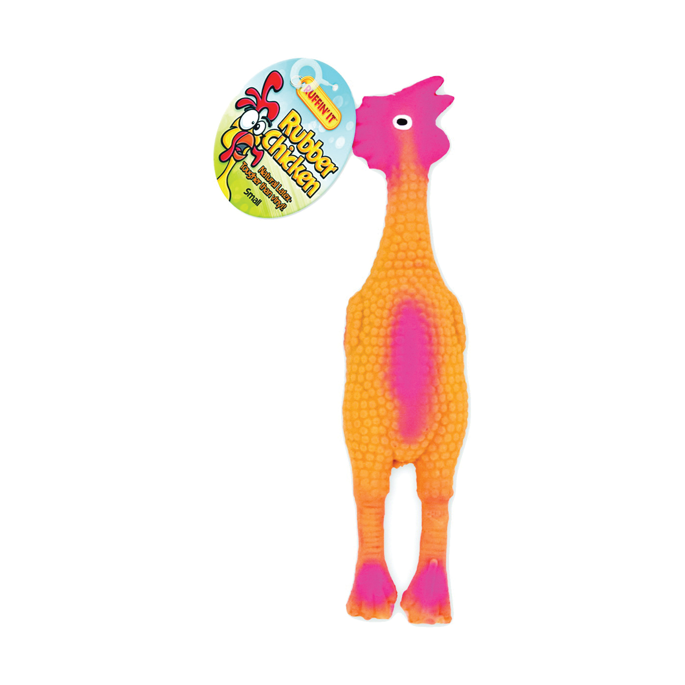 Picture of RUFFIN'IT 80528-2 Dog Toy, S, Chicken, Rubber
