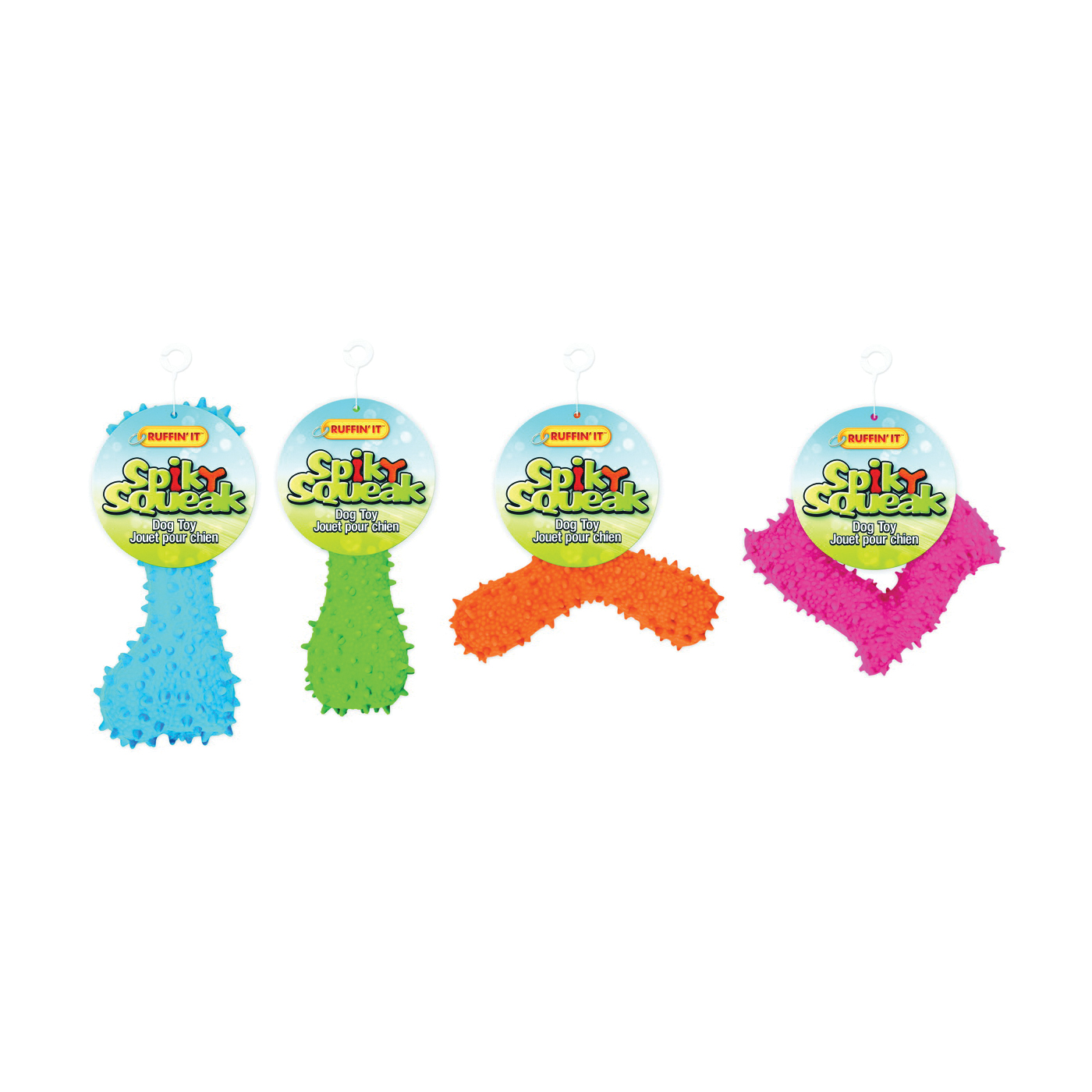 Picture of RUFFIN'IT 80518-AST Dog Toy, Spiky Chew, Latex, Assorted