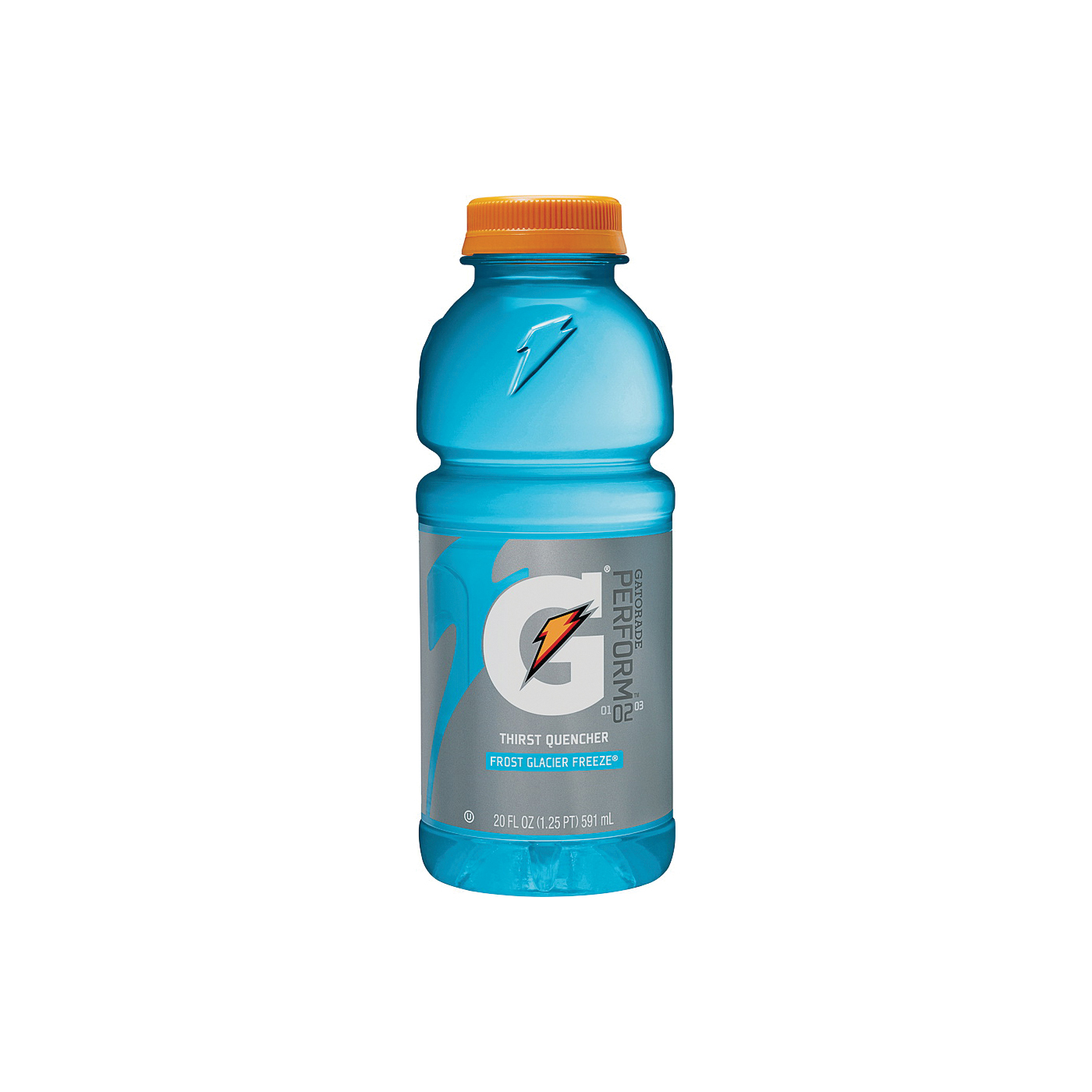 Picture of Gatorade G 32486 Thirst Quencher Sports Drink, Liquid, Glacier Freeze Flavor, 20 oz Package, Bottle