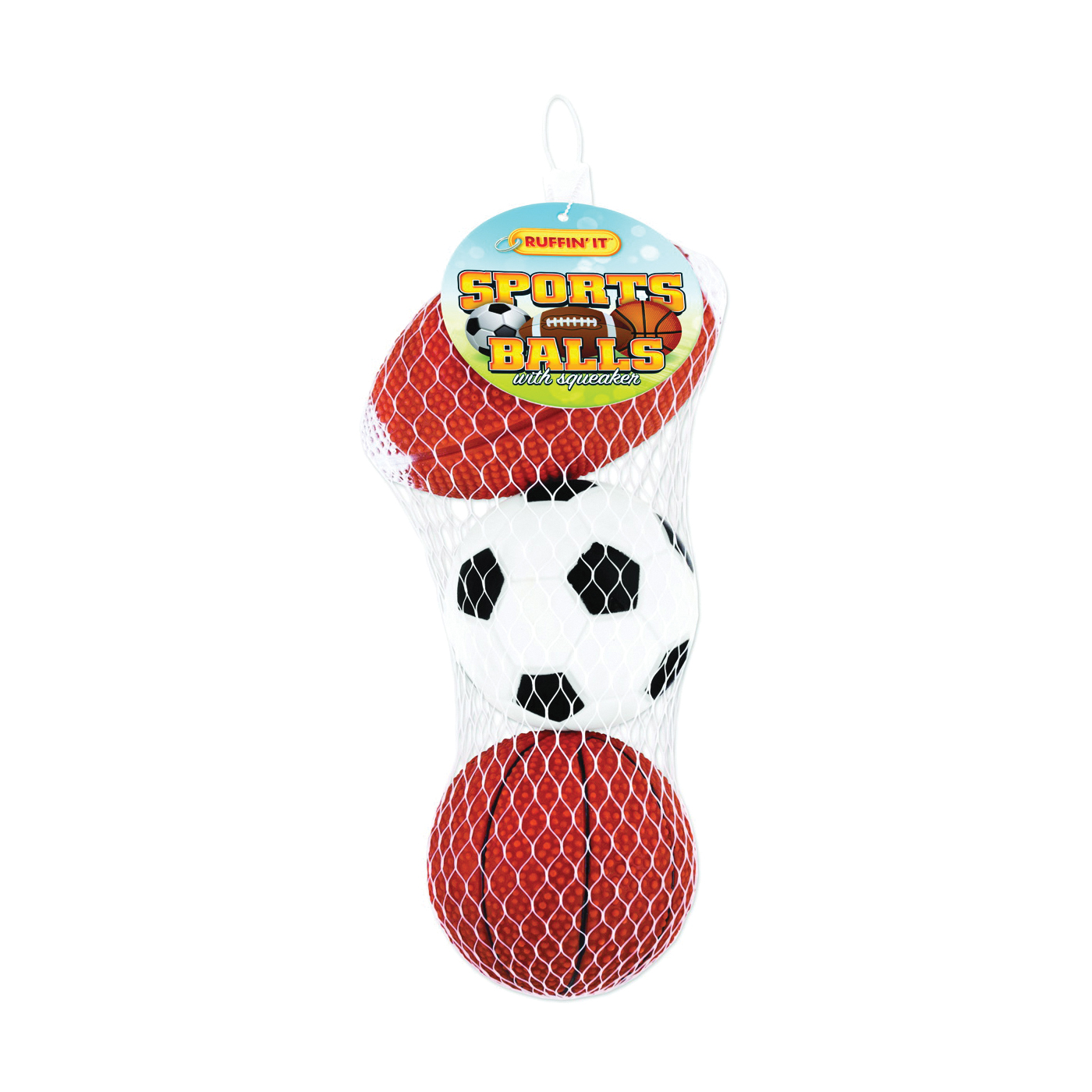 Picture of RUFFIN'IT 20063 Sports Ball Dog Toy, Vinyl