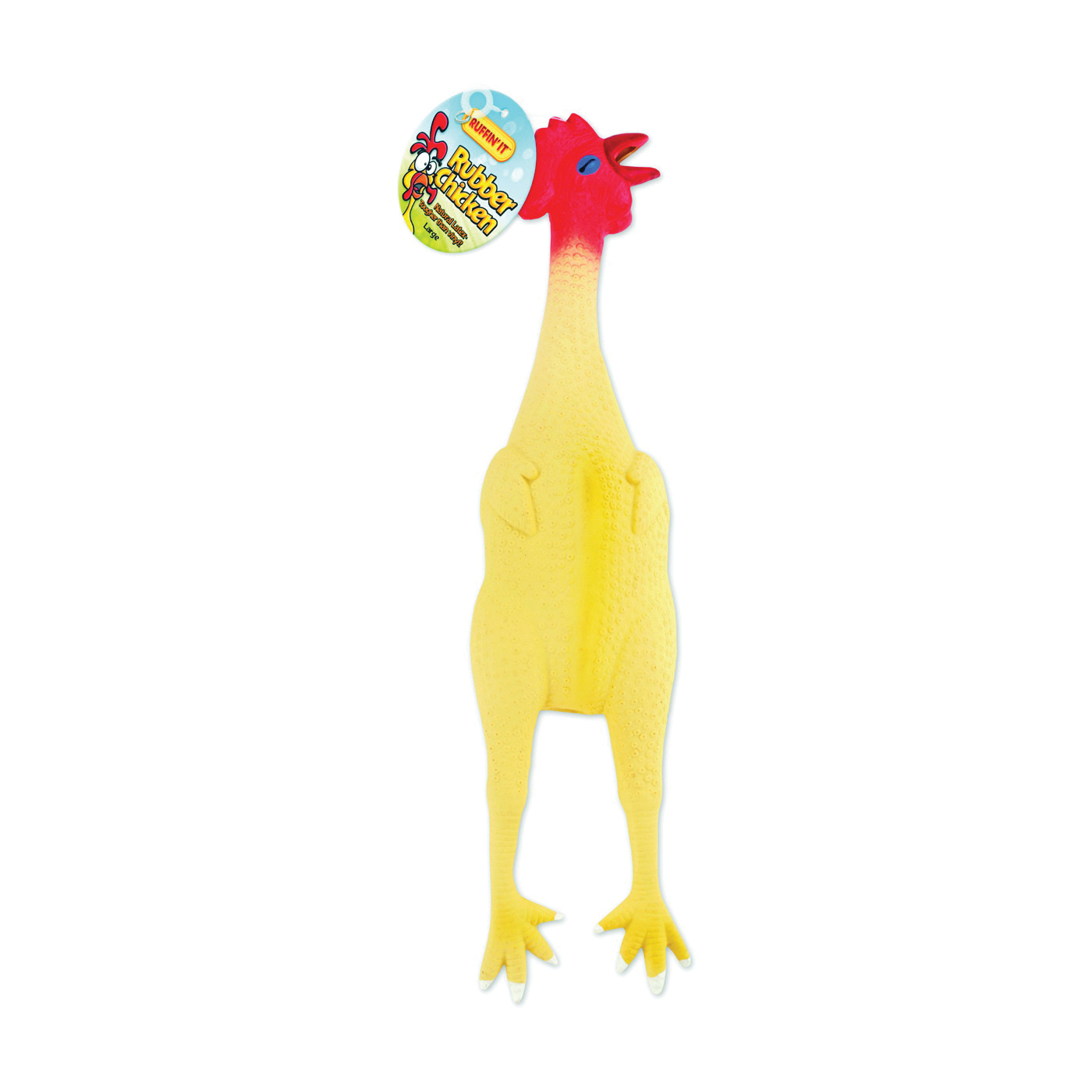 Picture of RUFFIN'IT 80527-2 Dog Toy, L, Chicken, Rubber