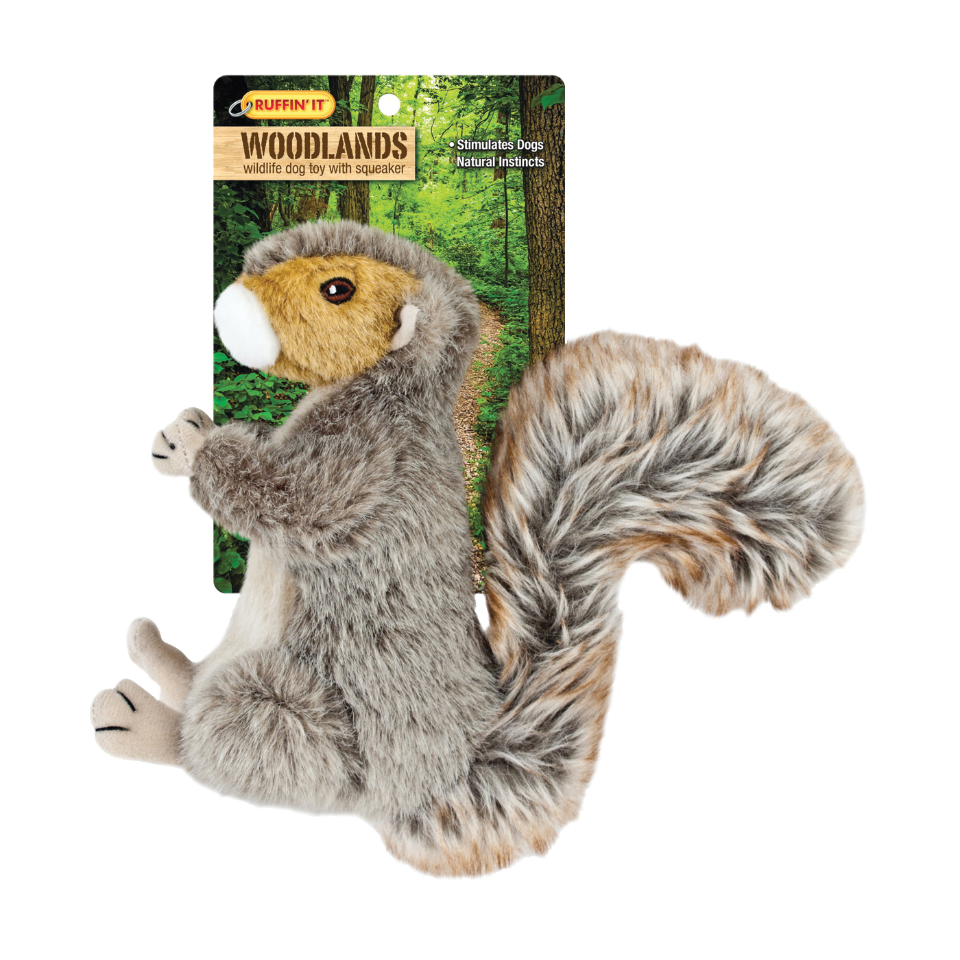 Picture of RUFFIN'IT 16272 Plush Dog Toy, L, Woodlands Toy, Squirrel