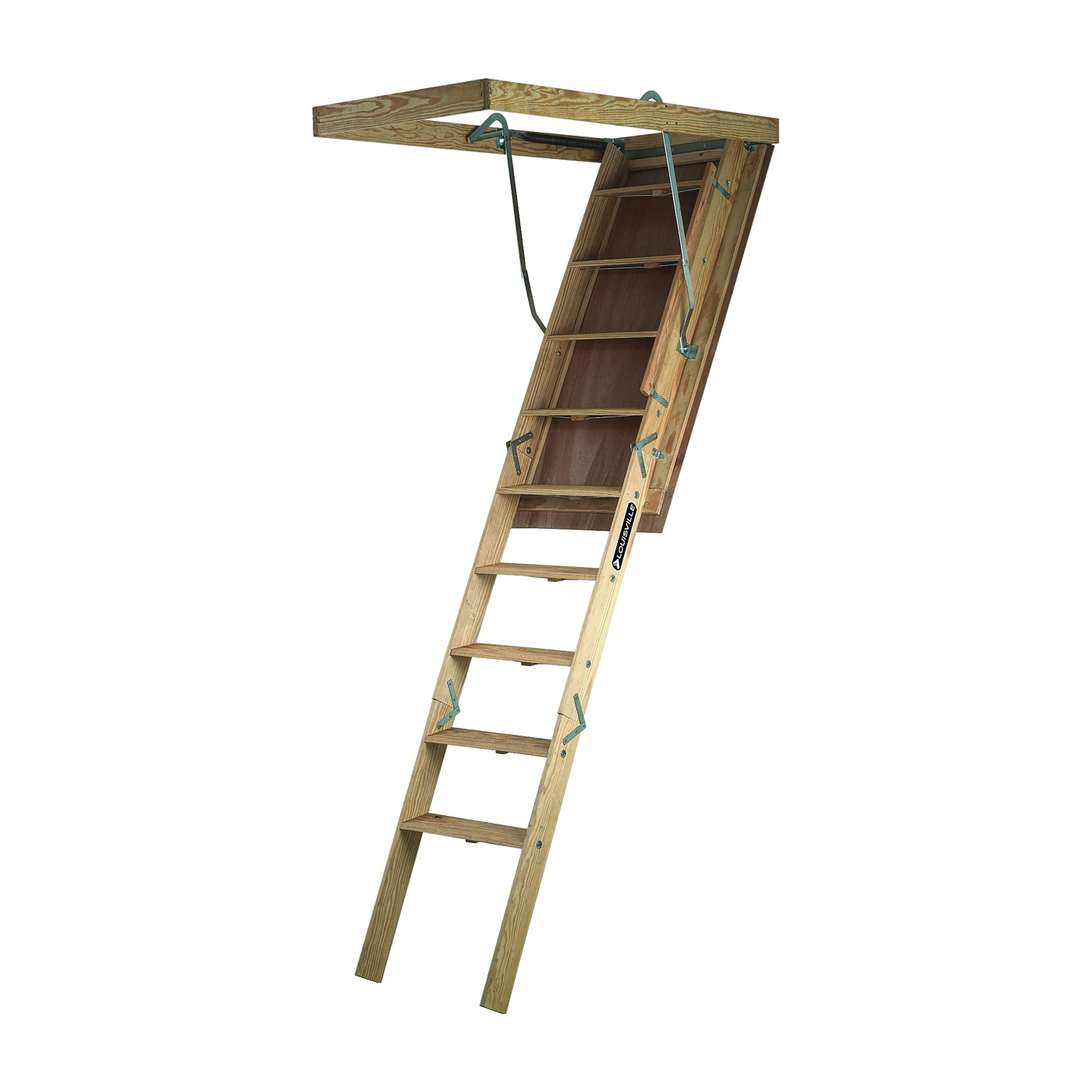 Picture of Louisville Big Boy Series L305P Attic Ladder, 8 ft 9 in to 10 ft H Ceiling, 30 x 60 in Ceiling Opening, 11-Step
