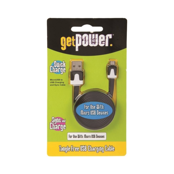 Picture of GetPower GP-USB-M Charge/Sync Cable USB, 3 ft L