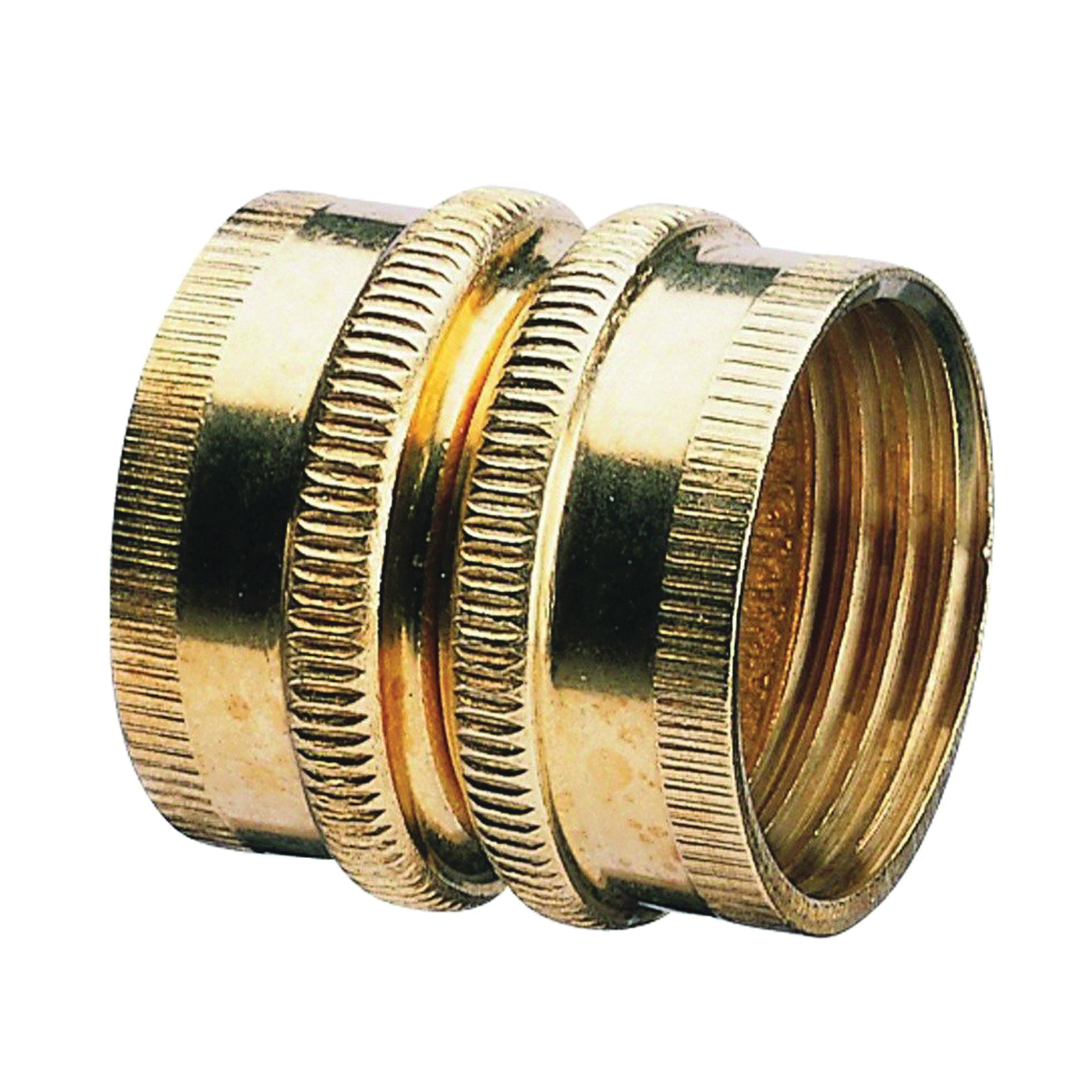 Picture of Gilmour 807734-1001 Hose Adapter, 3/4 x 3/4 in, FNH x FNH, Brass, For: Garden Hose