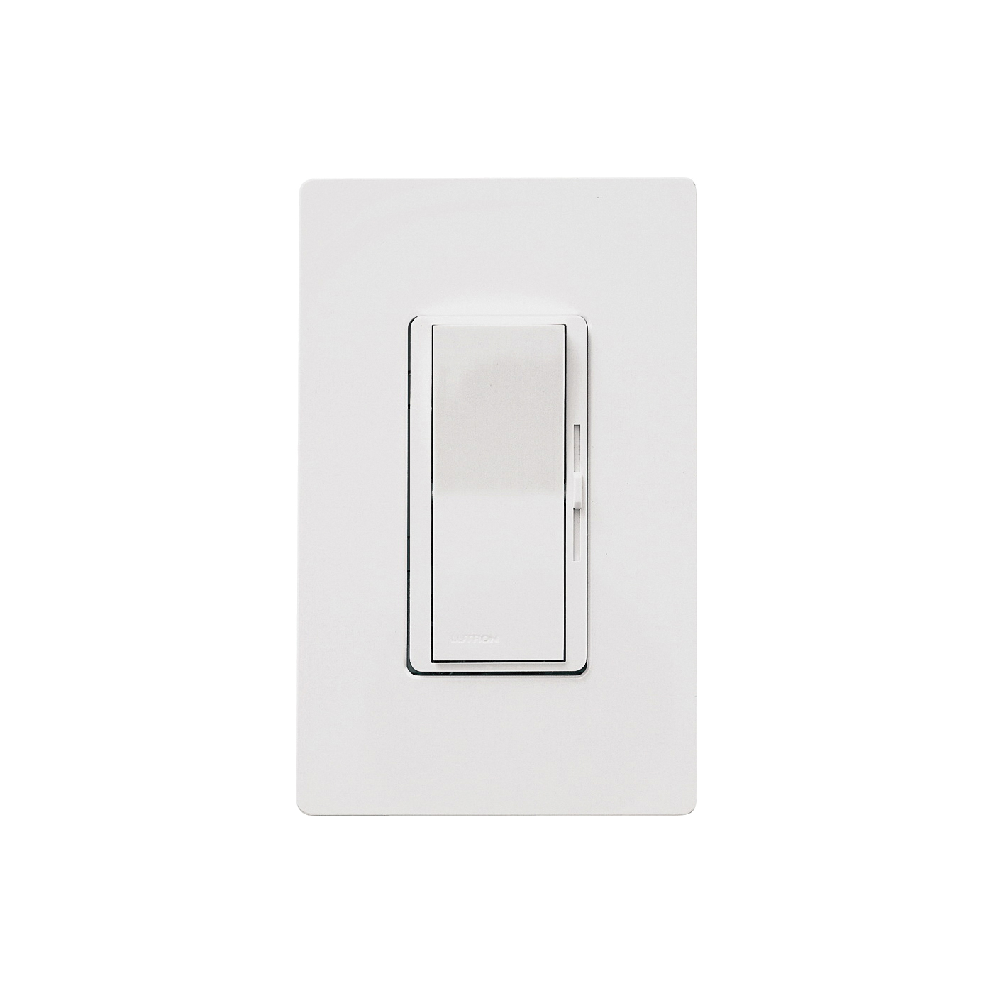 Picture of Lutron Diva DVWCL-153PH-WH C.L Dimmer with Wallplate, 1.25 A, 120 V, 150 W, CFL, Halogen, Incandescent, LED Lamp