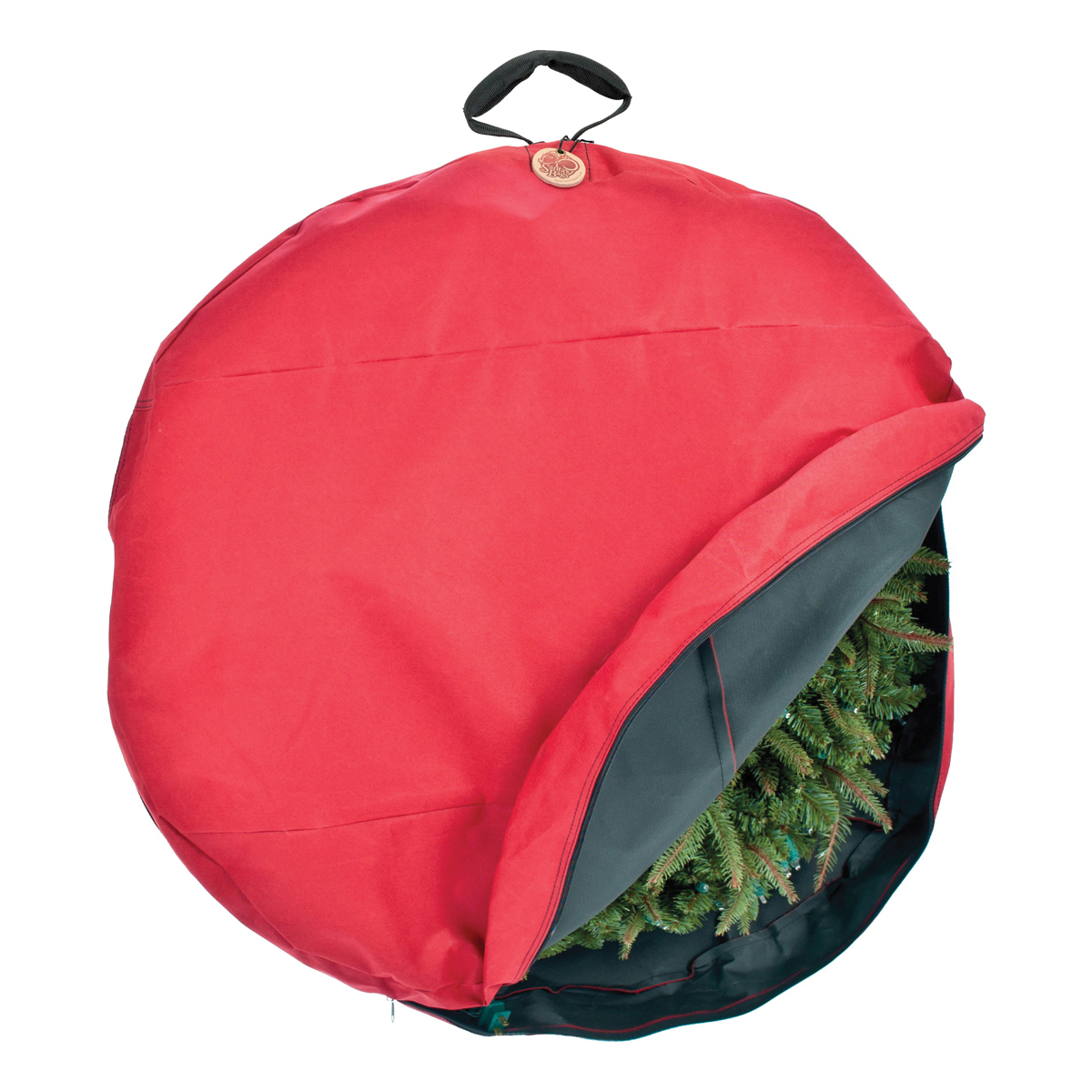 Picture of Treekeeper SB-10154 Wreath Storage Cover, 30 in, 30 in Capacity, Polyester, Red