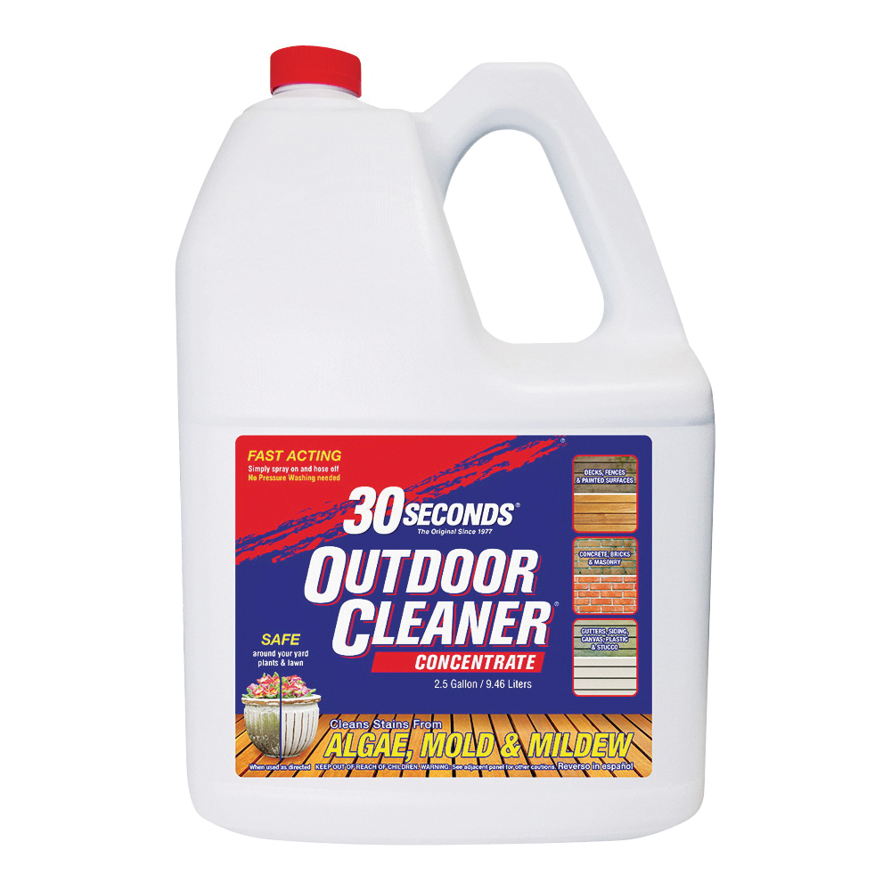 Picture of 30 SECONDS 2.5G30S Outdoor Cleaner, 2.5 gal Package, Bottle, Liquid, Light Yellow