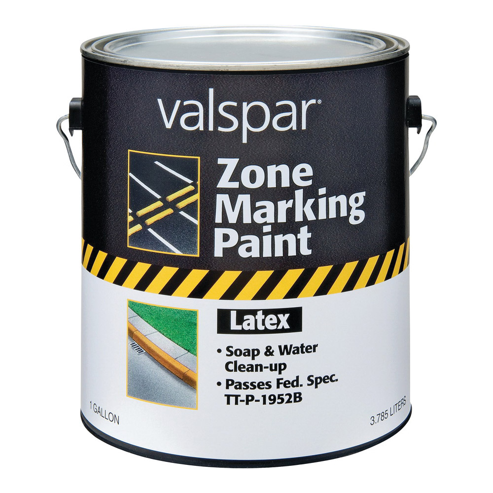 Picture of Valspar 136 Zone Marking Paint, Flat, Yellow, 1 gal, Pail
