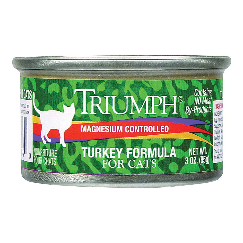Picture of Triumph 6600284 Cat Food, Turkey Flavor, 3 oz Package, Can