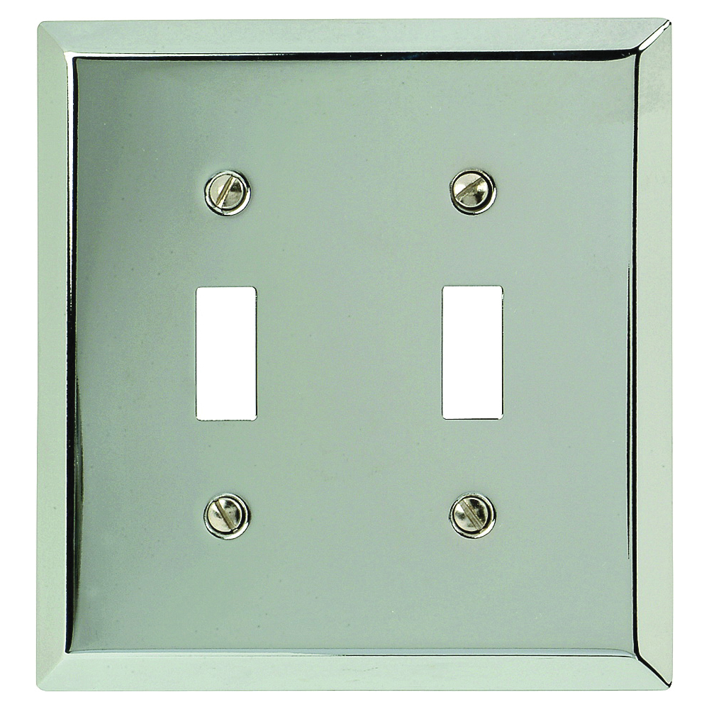 Picture of Amerelle 161TT Wallplate, 4-15/16 in L, 4-9/16 in W, 2-Gang, Steel, Polished Chrome