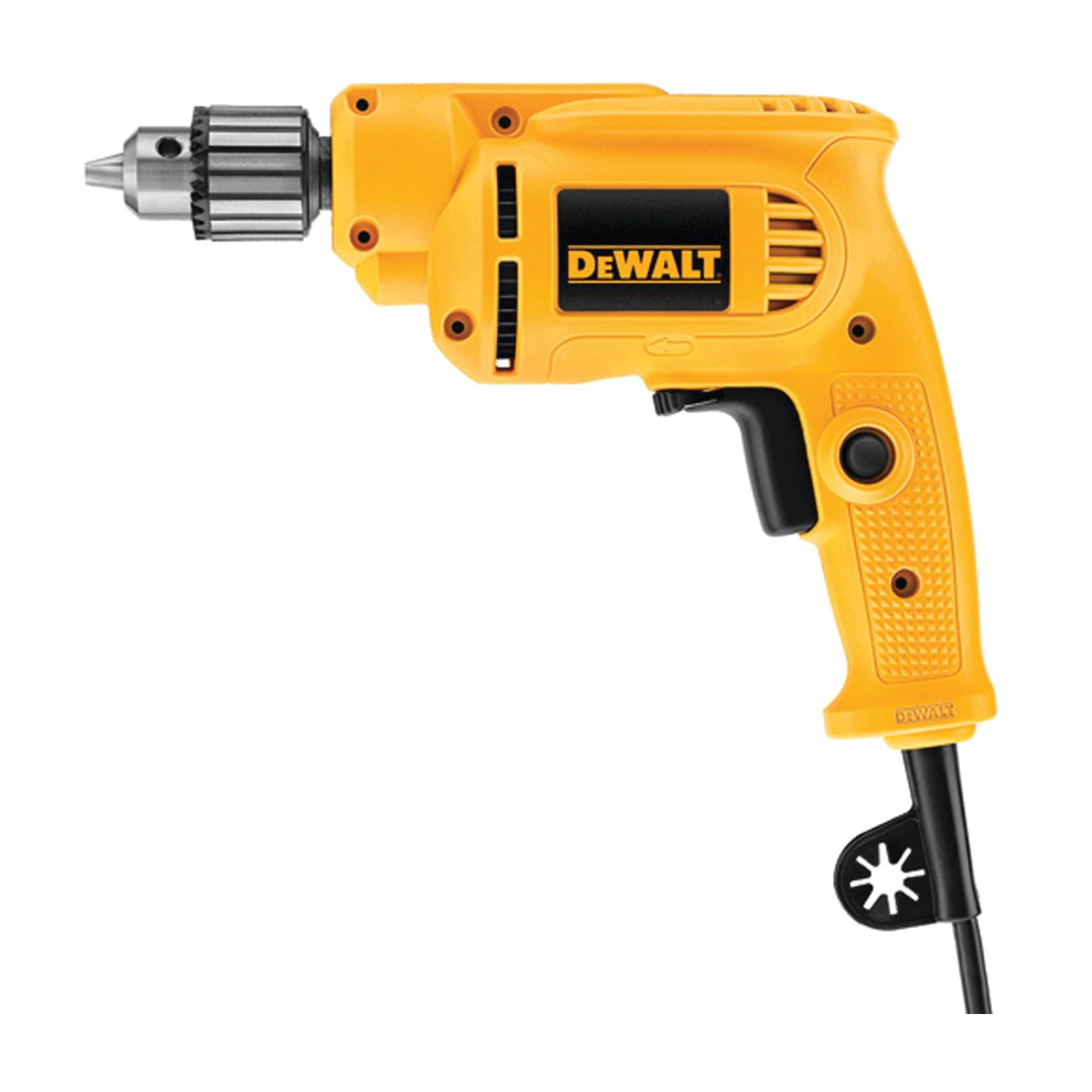 Picture of DeWALT DWE1014 Electric Drill, 120 V, 440 W, 1 in Spade Bit, 1-1/8 in Hole Saw Bit, 3/8 in Twist Bit Drilling