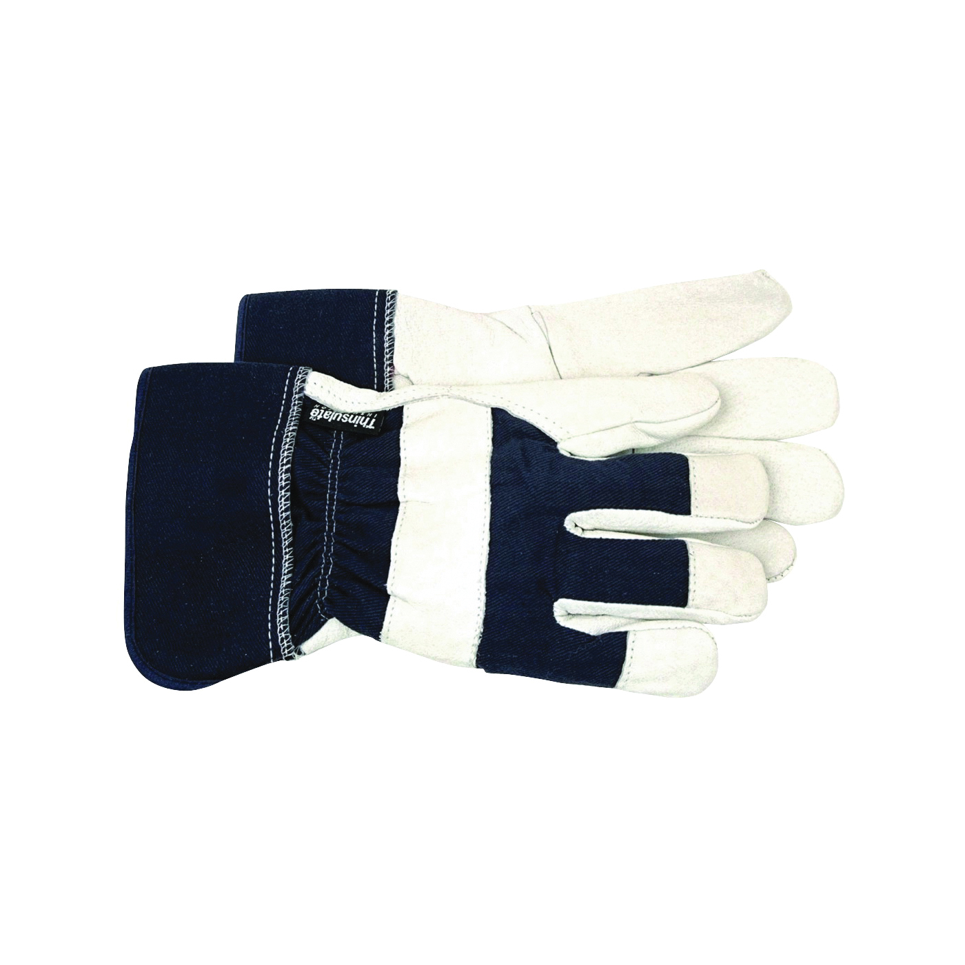 Picture of BOSS THERM 4196L Protective Gloves, Men's, L, Wing Thumb, Safety Cuff, Navy Blue