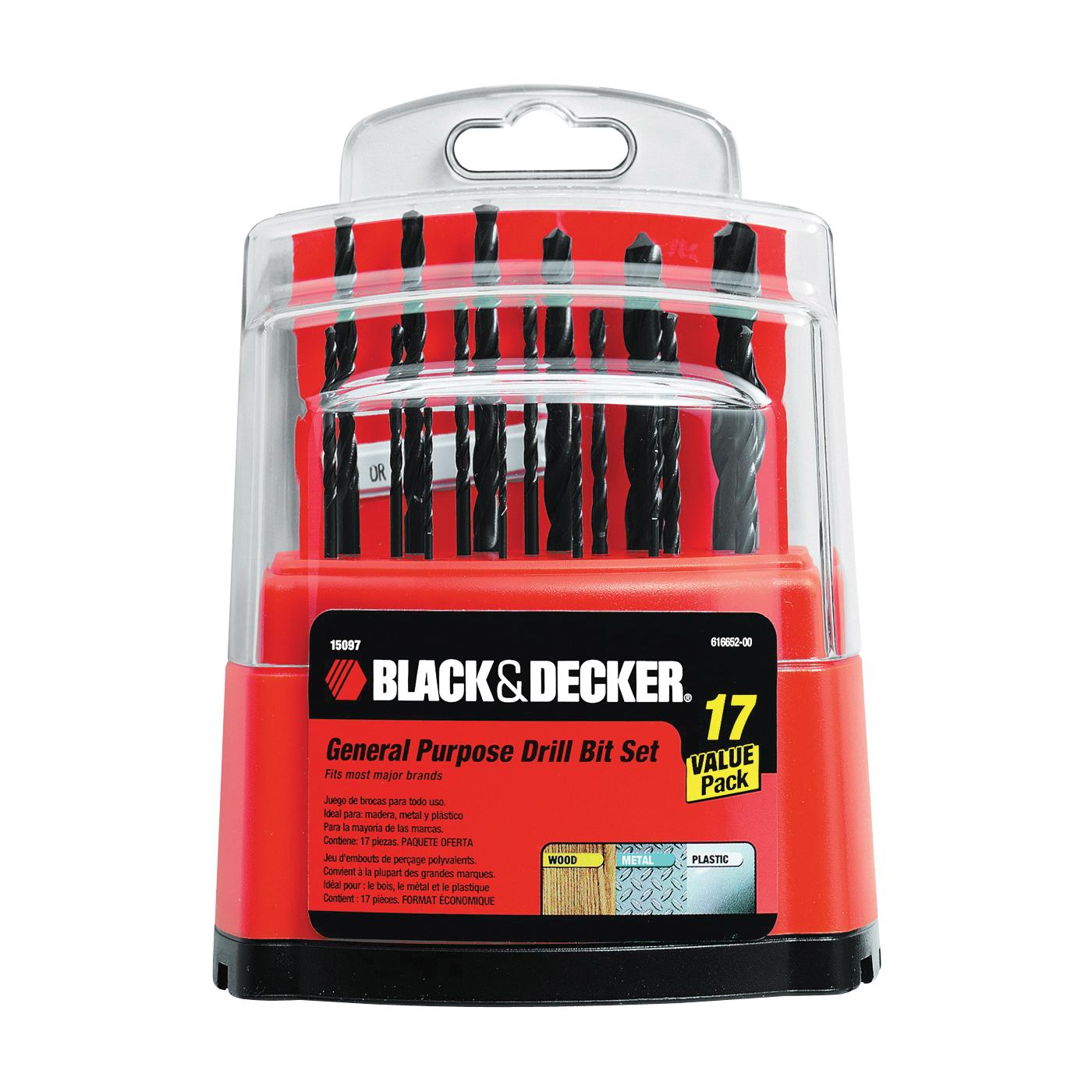 Picture of Black+Decker 15097 Drill Bit Set, Workbench, 17 -Piece, Steel
