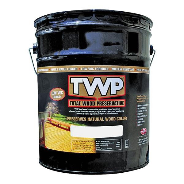 Picture of TWP 1500 Series TWP-1516-5 Wood Preservative, Rustic Oak, Liquid, 5 gal, Can