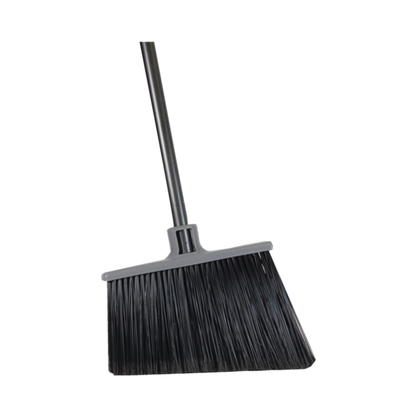 Picture of Quickie 754 Angle Broom, 15 in Sweep Face, Polypropylene Bristle, Steel Handle