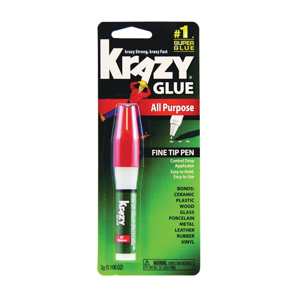 Picture of Krazy Glue KG82448R All-Purpose Glue Pen, Clear, 3 g Package, Tube