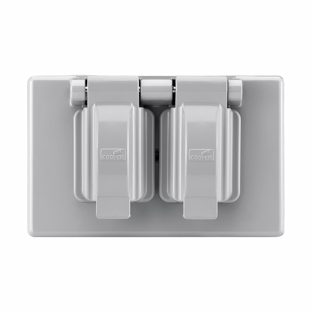 Picture of Eaton Wiring Devices S1962 Cover, 4-9/16 in L, 2-7/8 in W, Rectangular, Thermoplastic, Gray