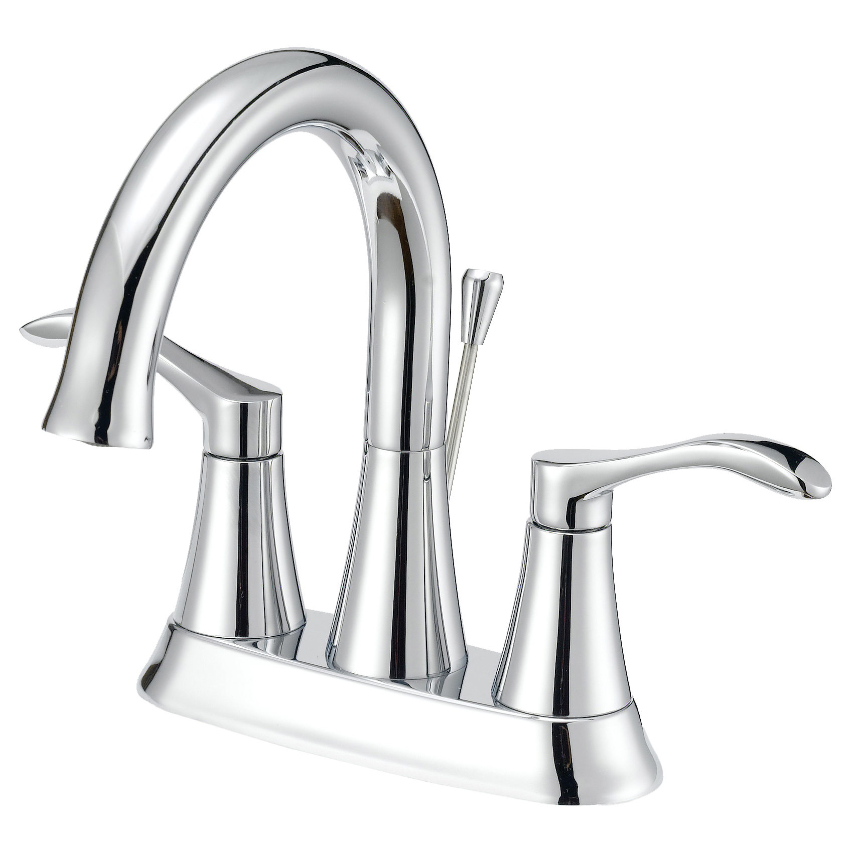Picture of Boston Harbor F51A0073CP Bathroom Faucet, 1.2 gpm, 2-Faucet Handle, Chrome, Lever Handle