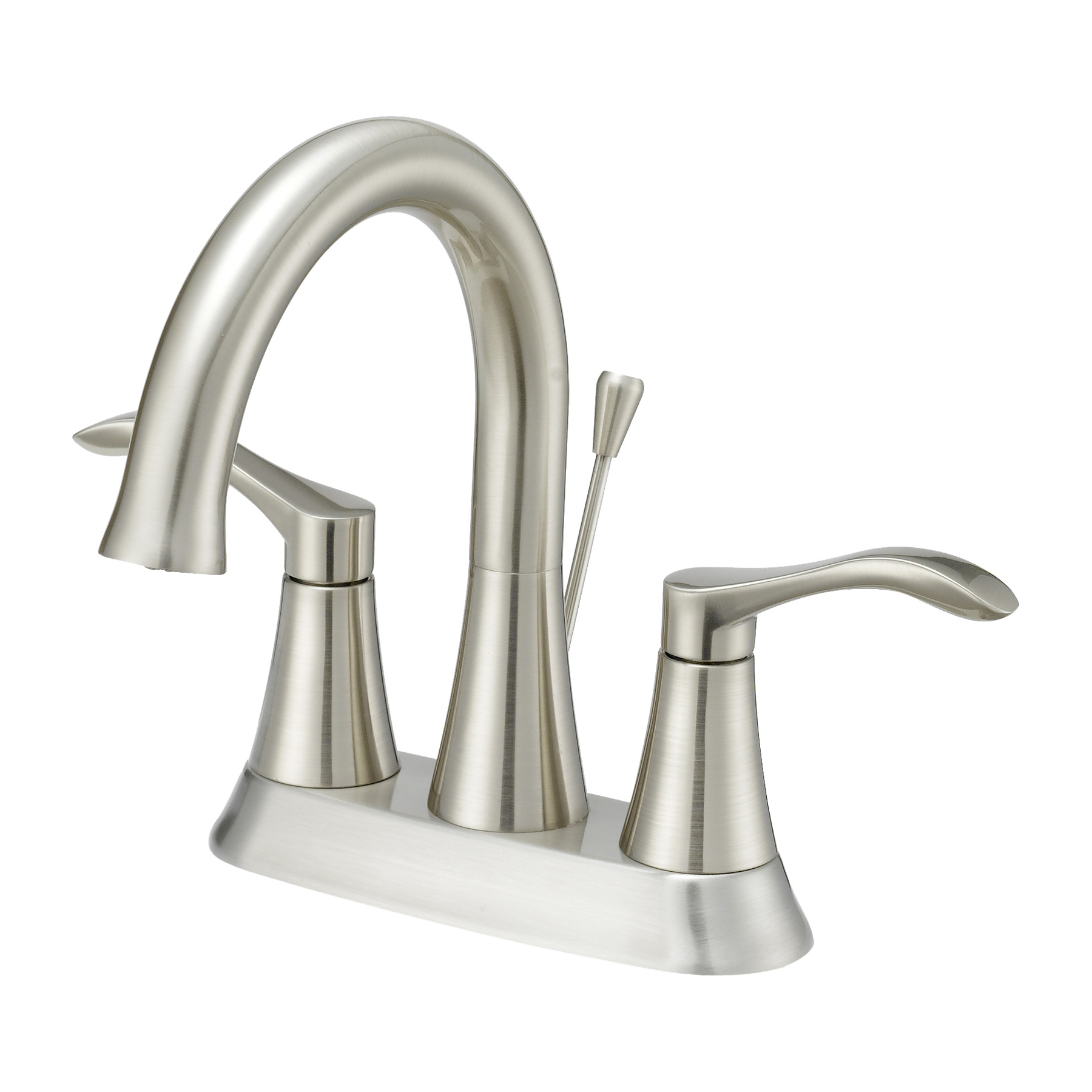 Picture of Boston Harbor F51A0073NP Bathroom Faucet, 1.2 gpm, 2-Faucet Handle, 3-Faucet Hole, Brushed Nickel, Lever Handle