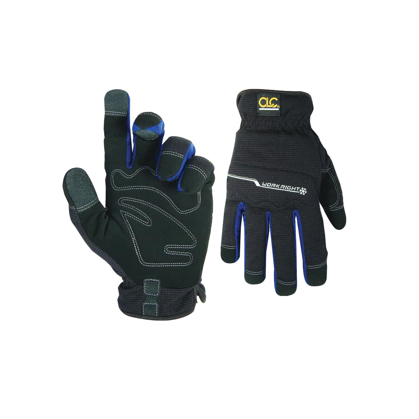 Picture of CLC FlexGrip L123L Work Gloves, Men's, L, Open Cuff, Black