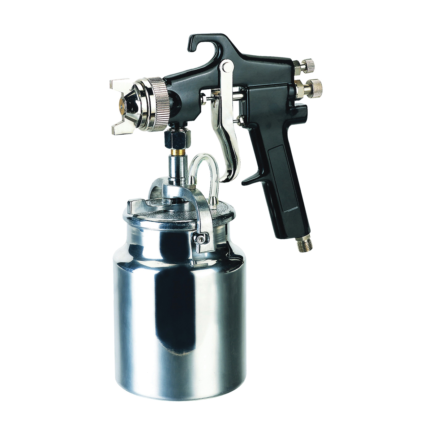 Picture of Speedway 50180 Spray Gun, 1.7 mm Nozzle, Siphon Feed Throttle, 6 cfm Air, 50 to 70 psi Air