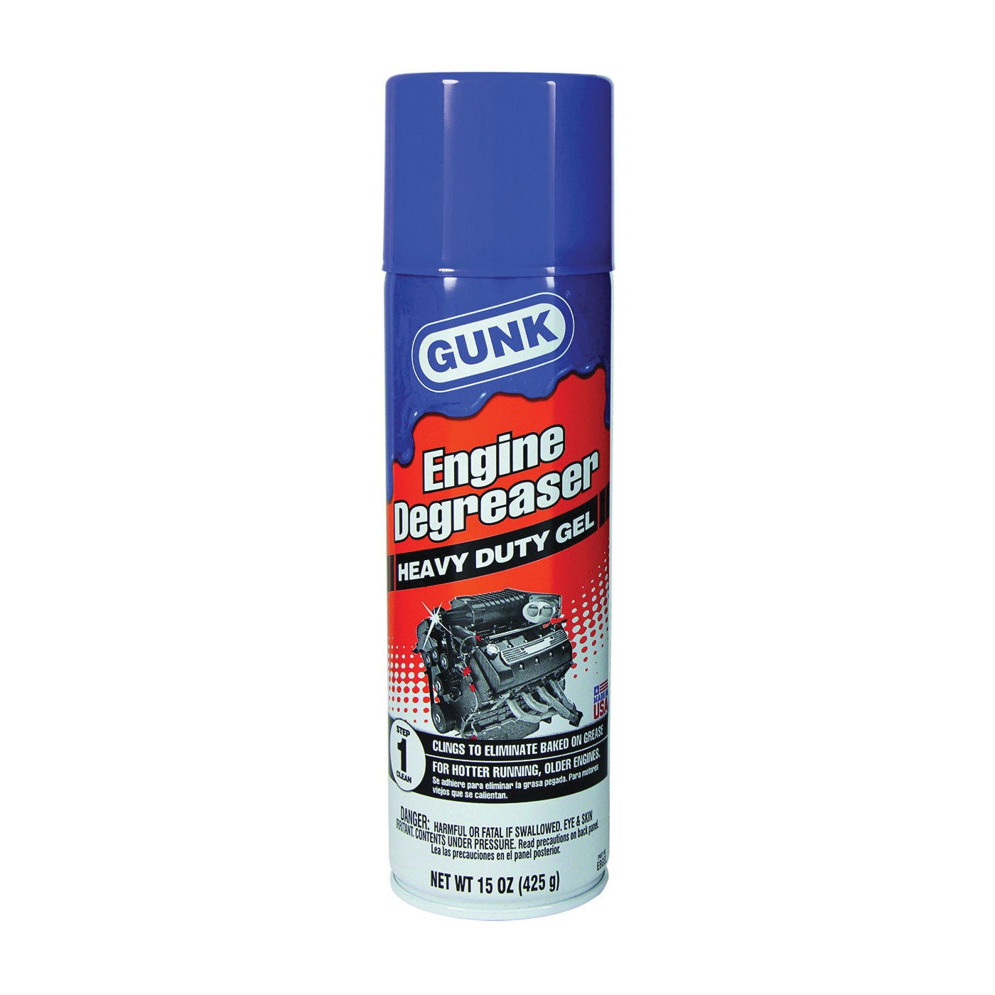 Picture of GUNK EBGEL Engine Degreaser, 15 oz Package, Aerosol Can, Liquid, Petroleum